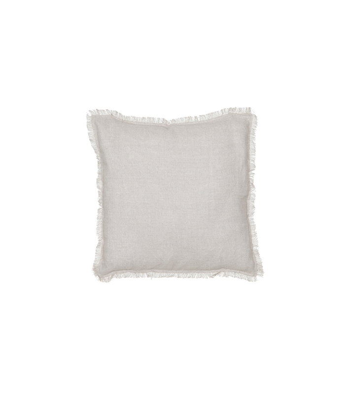 White Fringe Pillow