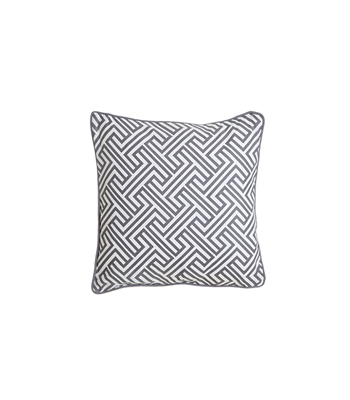Grey Pattern Pillow